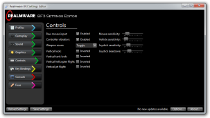 Controls page